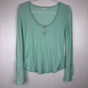 Anthropologie Eloise Thermal Henley Small II3772